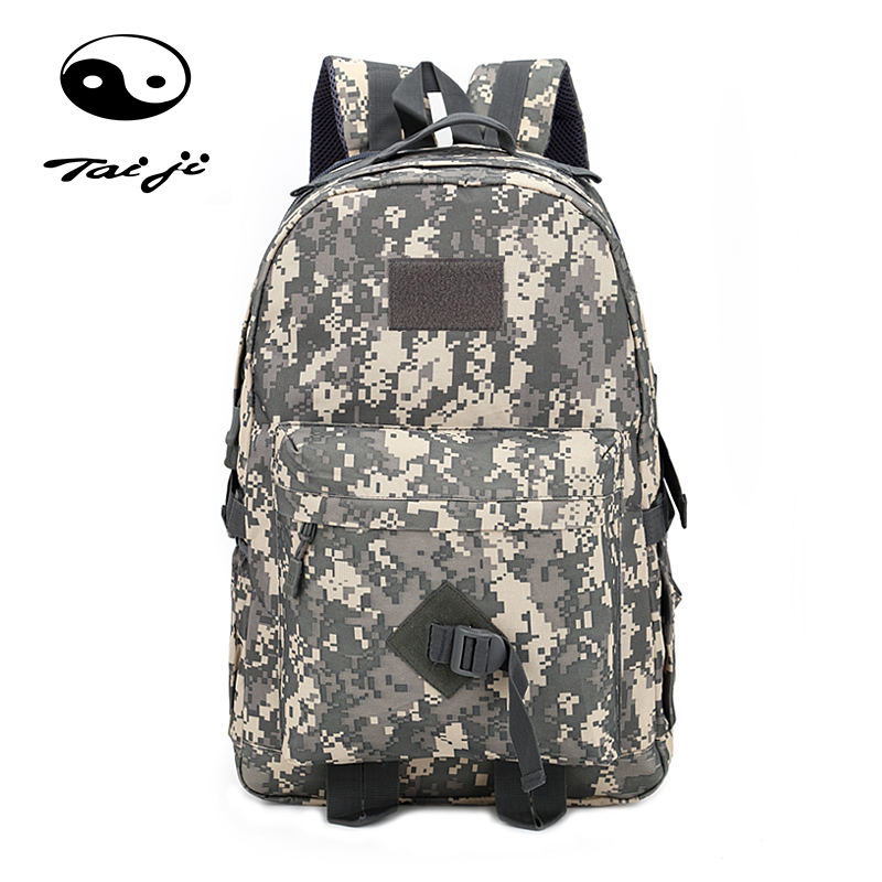 Taiji Tactical Army Military Assault Rucksack Outdoor Sports Camo Bag Backpack Hiking Climbing Travel Back Pack Multifunctional