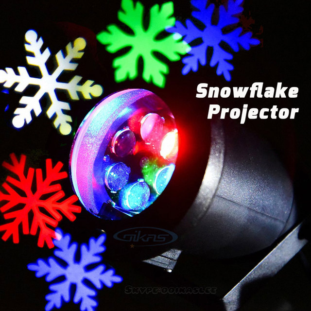 White And Colored Christmas Lights Part - 39: Outdoor Holiday White Light Color LED Snowflake Projector Waterproof IP44  Snow Christmas Lights Projector Party Garden