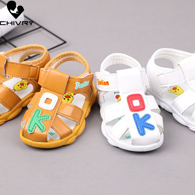 Chivry 2019 Summer Kids Cute Cartoon Toddler Boys Girls Hollow Out Sandals Sport Infant Baby Boys First Walk Shoes Beach Sandals