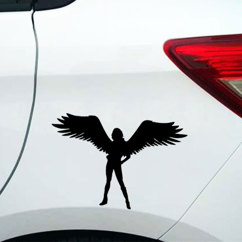 Angel Car Sticker Vinyl Creative Window Automotive Products Stylish Tuning Accessories Bomb Funny Ornament for Cars Styling