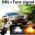 Chita Para 2010-2015 Outback DRL Daytime Running Light & Turn Signal Luz de Aviso da lâmpada Xenon Branco + Âmbar frete grátis