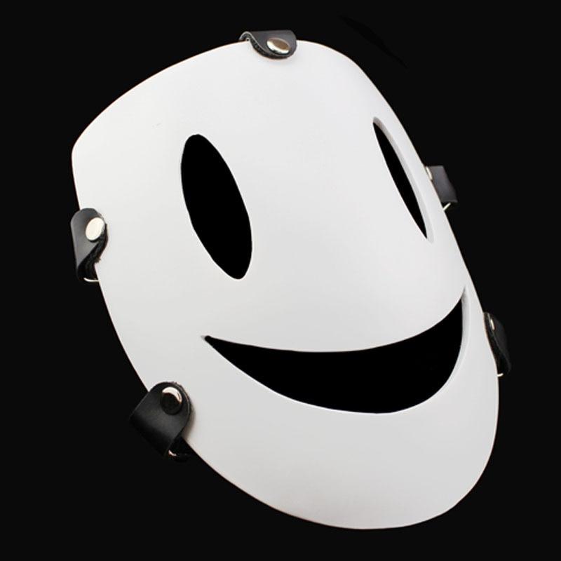 Free Shipping Resin Smile Face Mask Black Bullet Kagetane Hiruko Cosplay Masquerade Costume Props Fancy White Anime Masks