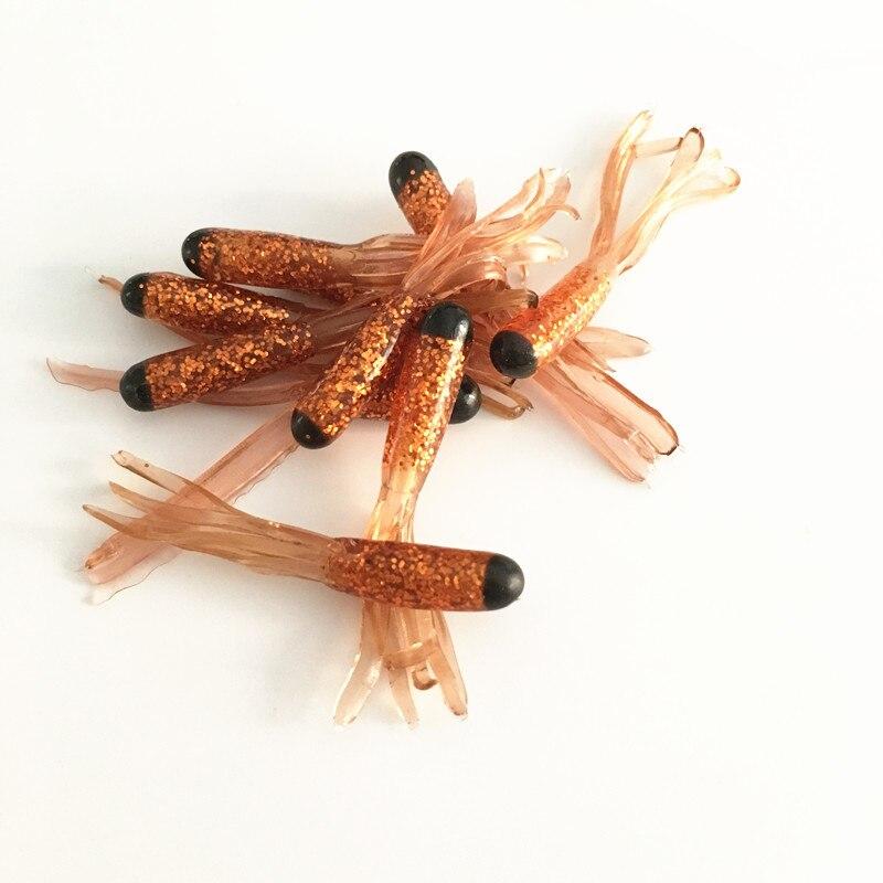 10pcs Soft tube bait lure ,fishing artificial grub worm soft pesca lure baits for freshwater fishing tackle black head wormbait