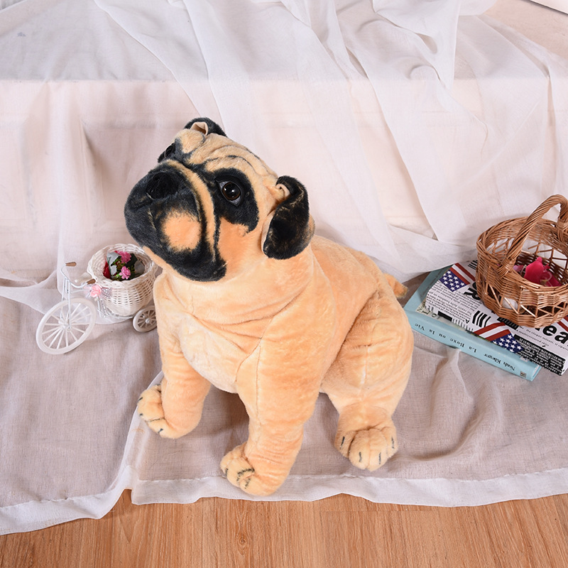 simulation squatting pug dog huge 78cm simulation pekingese dog plush toy soft doll hugging pillow Christmas gift w1017 simulation squatting pug dog huge 78cm simulation pekingese dog plush toy soft doll hugging pillow christmas gift w1017