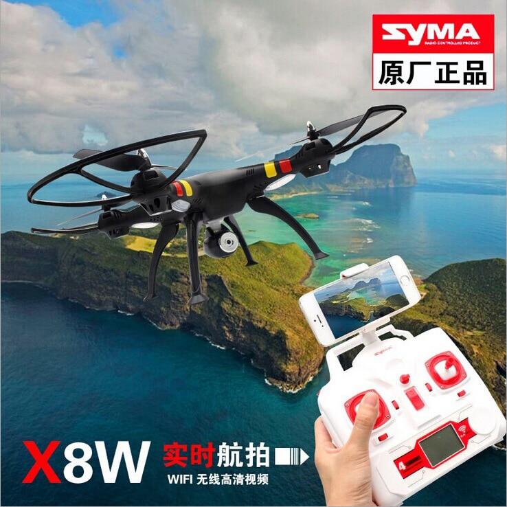 Originales SYMA X8W FPV RC Drone con cámara HD Wifi 2.4 G 4CH 6-Axis RC helicópt
