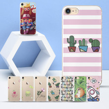 For iPhone 6S case for 5 5S SE 6 7 8 Plus X XR XS Max Cases Cactus