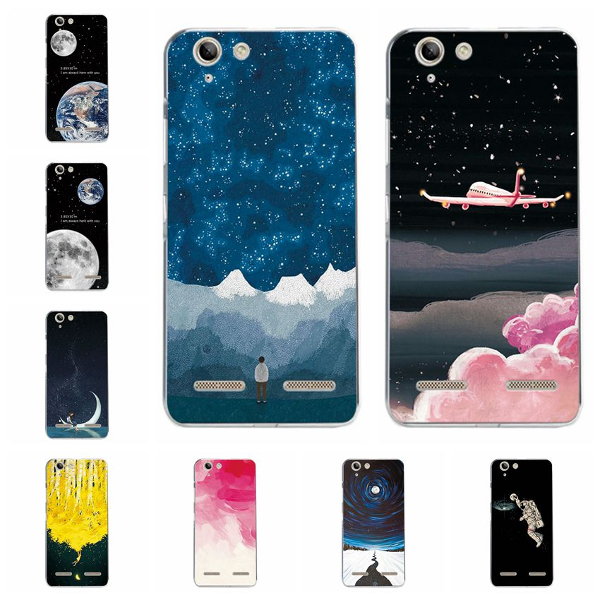 Half-wrapped Case Cellphones & Telecommunications Couple Sky Moon Earth Case For Lenovo S90 S90t Hard Plastic Silicone Phone Capa Back Cover For Lenovo S90 Case Fundas Fashion