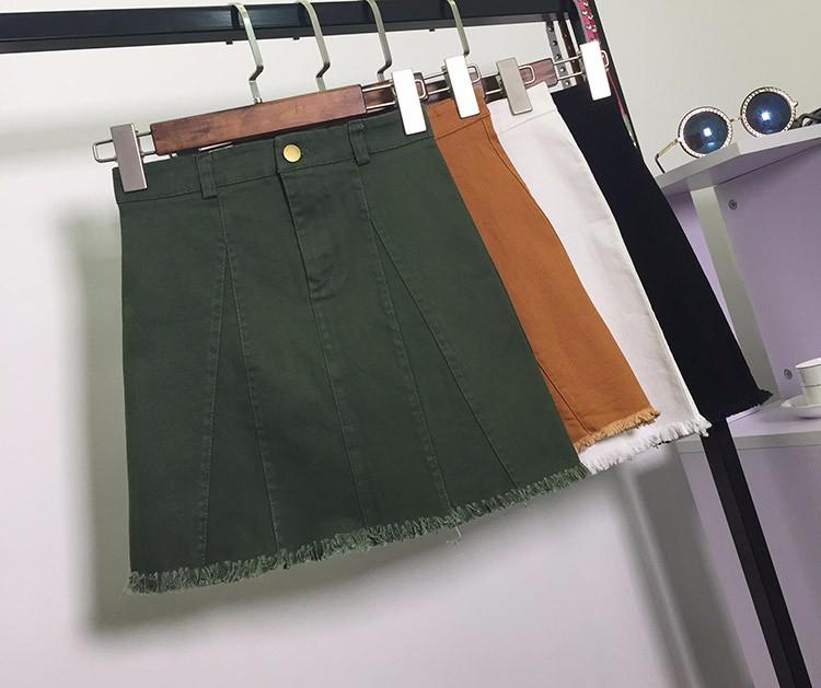 HTB1AaFBOVXXXXXVaXXXq6xXFXXXw - American Apparel button Denim Skirt JKP265
