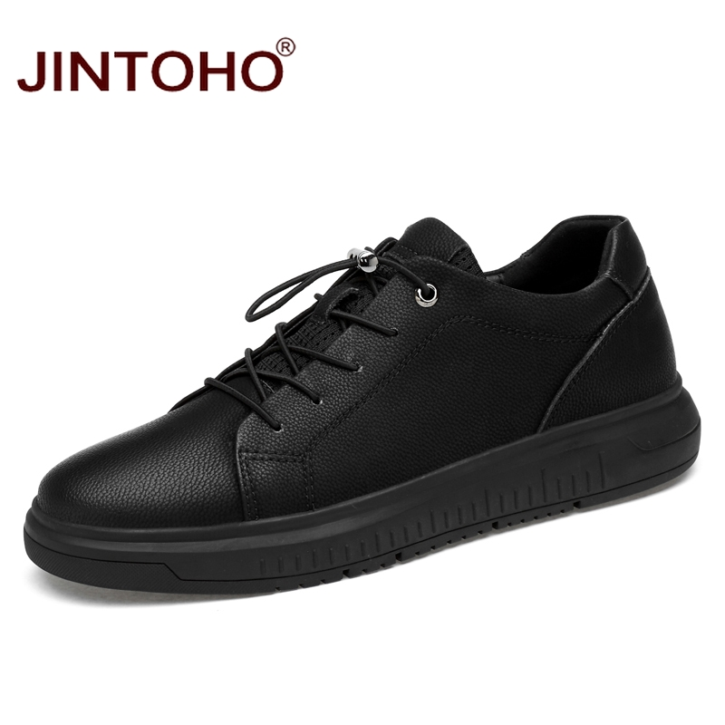JINTOHO Large Size Men Flats Men Shoes Genuine Leather Men Casual Shoes Fashion Brand Male Leather
