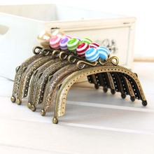 Free Shipping /6 color /12.5CM Sweet lollipop candy bead purse frame, bronze purse frame / Wholesale