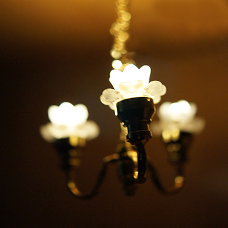 Mini 1 :12 Scale Dollhouse Lamp Miniature Ceiling Light
