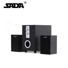 SADA Alta Calidad USB 2.1 Altavoces Para El Ordenador Portátil Computadora de Escritorio De Madera, 3.5mm Smartphone REPRODUCTOR de MP3/4