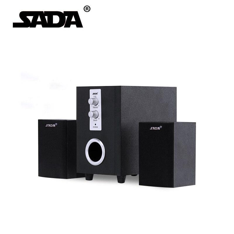 SADA High Quality USB 2.1 Wood Speakers For Laptop Desktop Computer,3.5mm Smartphone DVD MP3/4