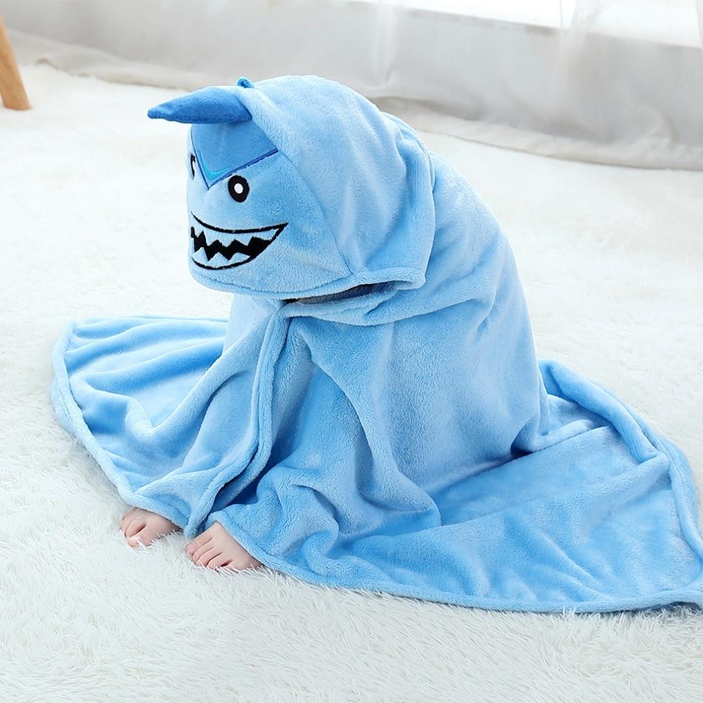 Baby Animal Cartoon Hooded Towel Beach Bath Robes Soft Children Poncho Towels Bathing Suit Towel For Boys Girls Kids Bathrobe 6