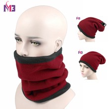New Winter Women Double Layer Polar Fleece Neck Warmer Thermal Snood Ring Scarf Hat Ski Wear Snowboarding Unisex Men Neck Warmer