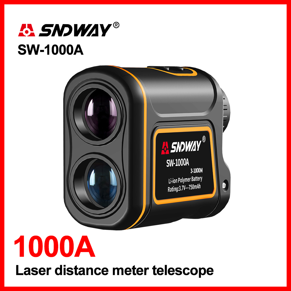 SNDWAY Handheld 1000m 1500m Laser distance meter telescope Golf Hunting Rangefinder Range Finder Monocular 8X Trena