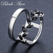 [BLACK AWN] Pure 925 Sterling Silver (China)