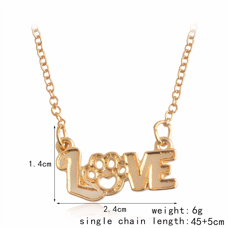I Love Paw Necklace 2