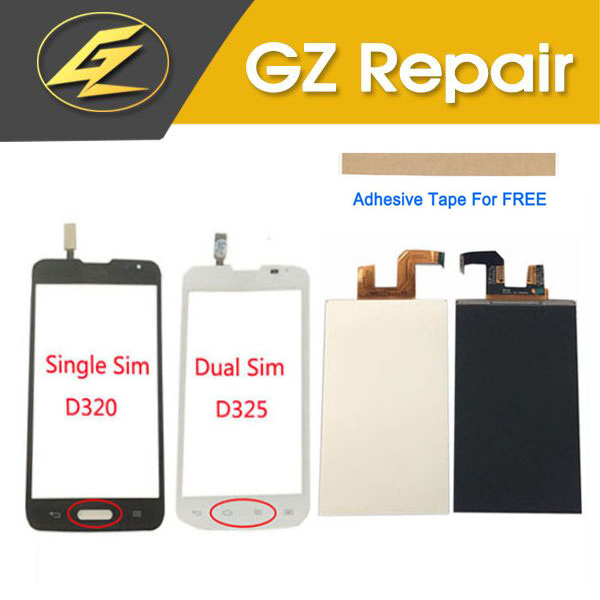 White Black Color High Quality For LG L70 D320 D321 D325 LCD Screen Display And Touch Screen Replacement Parts With Tools TapeWhite Black Color High Quality For LG L70 D320 D321 D325 LCD Screen Display And Touch Screen Replacement Parts With Tools Tape