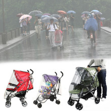 Baby Universal Waterproof Stroller Rain Cover Dust Shield Pushchair Cover Windproof Hood Rain Cover Baby Car Poncho Windshield