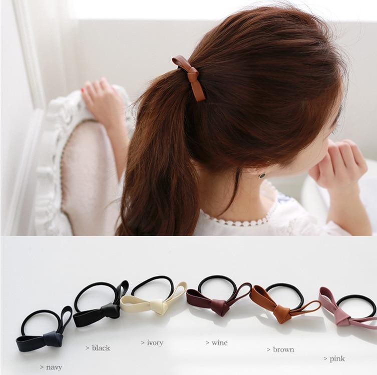 little girl skin hair ribbon Bow with elastic hair bands kids hair accessories Mini Bow Girls' Hair ropes