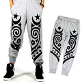Men Plus Size Totem Printed Jogger Pants Mens Casual Sweatpants New 2017 Hiphop Street Dance Pants Elastic Waist Free Shipping