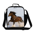 Horse thermal lunch bag with shoulder strap animal kids lunch box ideas clear insulated lunch cooler bag pattern trendy meal bag