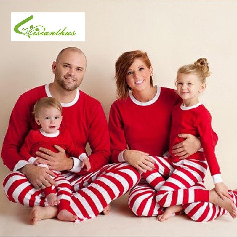 Familie Kleidung 2019 Weihnachten Streifen Kid Pyjamas Mama Und Mich Kleidung Mutter Tochter Vater Baby Familie Passenden Outfits