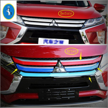 Yimaautotrims Auto Accessory Front Head Central Grille Cover Insert Trim ABS Fit For Mitsubishi Eclipse Cross 2018 2019