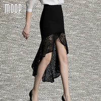 Nueva primavera verano mujeres faldas de encaje negro delgado atractivo de la trompeta de la falda faldas jupe femme saia jeans Envío gratis LT1170 etek
