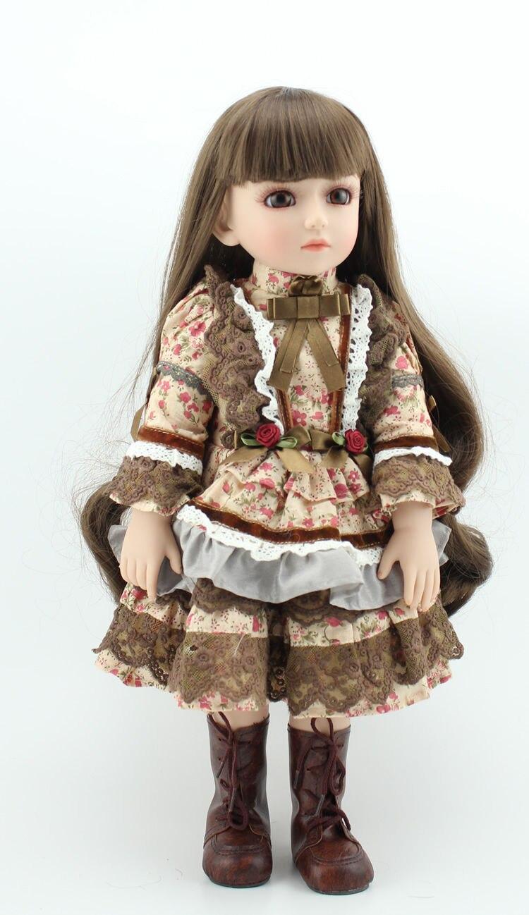 1/4 45 см модное шарнирное тело BJD Кукла Принцесса bonecas макияж Ангел bebe живая моделирование куклы игрушки для девочки на продажу младенцев