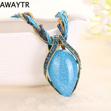 AWAYTR Summer Style Necklace Clavicle Multilayer Chain Pendant Necklaces Bohemian Colorful Necklace Turkish Jewelry
