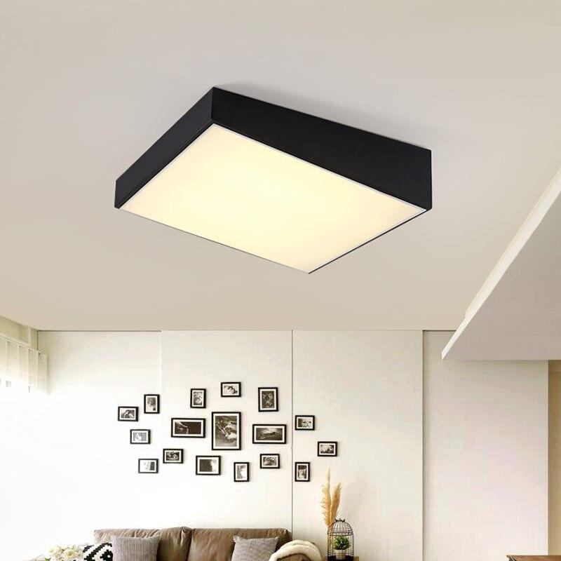 ФОТО 24W Led Ceiling Lamp Modern Bedroom Living Room Restaurant Kitchen Light White Iron Acrylic Indoor Home Lighting Fixtures 220V