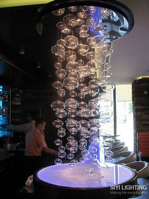 D50CM*H300CM Glass Bubble Ball Pendant Lights Of Muranodue Ether Modern Handmade Ceiling Pendant Lamps LED 4 bulbs
