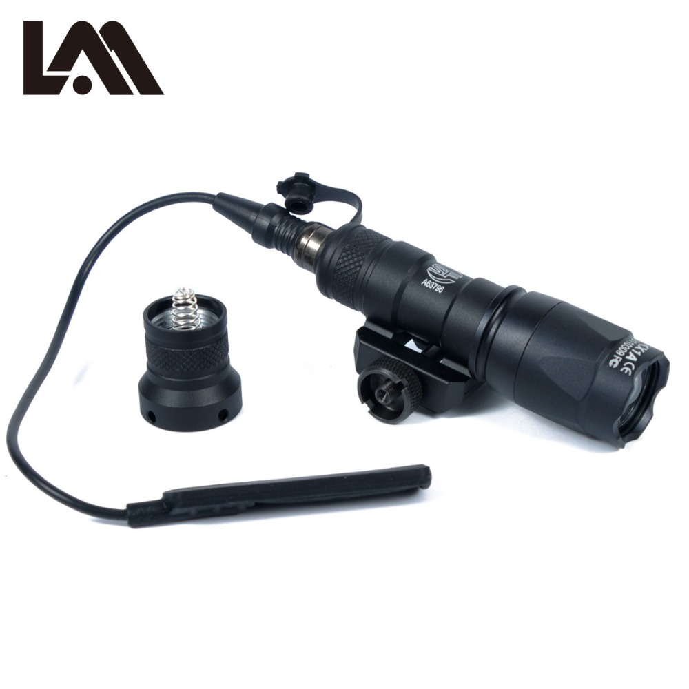 LAMBUL M300 M300C Scout Light Tactical Rail Light Torch Rifle Hunting Flashlight Constant / Momentary Output for 20mm RailLAMBUL M300 M300C Scout Light Tactical Rail Light Torch Rifle Hunting Flashlight Constant / Momentary Output for 20mm Rail