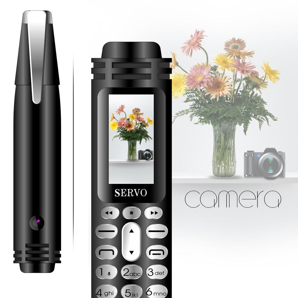 """SERVO K07 ручка мини телефона 0,96 """"Tiny Экран GSM двойной сим Камера Фонарик Bluetooth Dialer мобильных телефонов с Запись ручка"""
