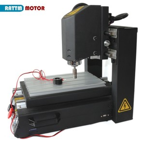 Image 4 - DE free VAT Desktop 3 Axis 2030 CNC Router Engraving Milling Machine with Emergency stop High strength steel + 400W Spindle