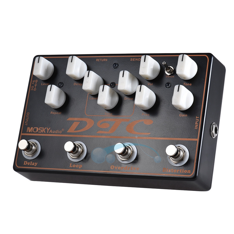 все цены на Mosky DTC 4-in-1 Guitar Effect Pedal with Distortion/Overdrive/Loop/Delay Functions