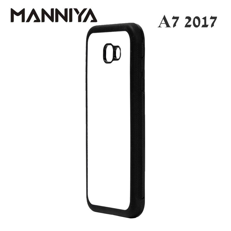 MANNIYA Boş Sublimasiya kauçuk TPU + PC üçün Case Samsung Galaxy - Cib telefonu aksesuarları və hissələri - Fotoqrafiya 4