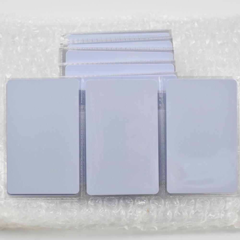 bilder für 50 teile/los T5577 Beschreibbare Reusable Weiß Kopie Karten Für ID EM4100 Tk4100 RFID 125 Khz PVC Material Wasserdicht