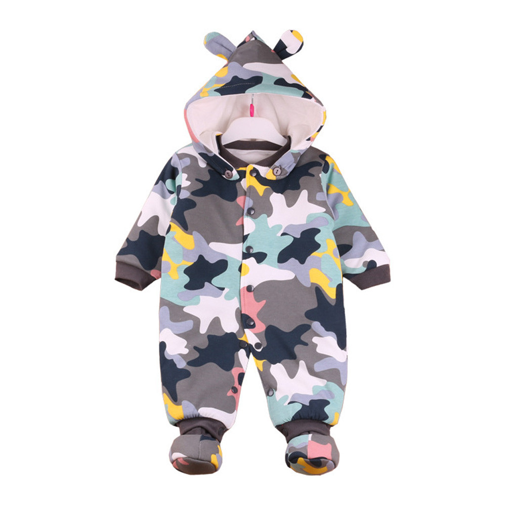 Baby Clothing Overalls children's winter coveralls for newborns pajamas boys girls cartoon hoodie thick rompers Kids' things cotton baby rompers set newborn clothes baby clothing boys girls cartoon jumpsuits long sleeve overalls coveralls autumn winter