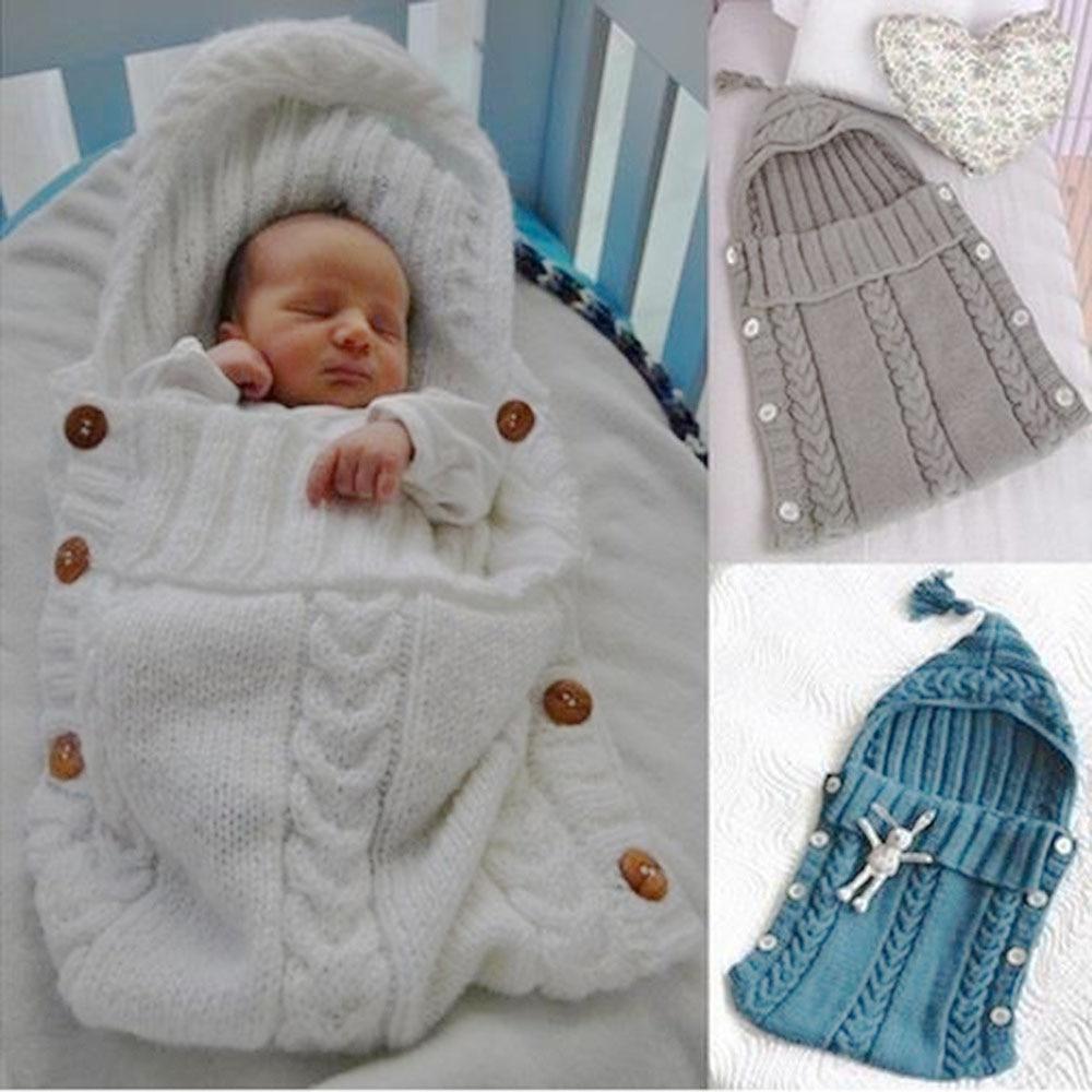 Baby Blanket Newborn Wrap Swaddle Knitting Blanket For Toddler Infant Baby Sleeping Bags Cute Swaddling Blanket For Bedding