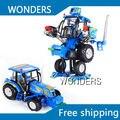 Metal de trator agrícola brinquedo deformação robô Autobot modelo para crianças e coleção