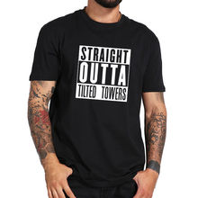 Straight Outta Tilted Towers T Shirt Fort Summer Short Sleeved Fashion Tee Free shipping Harajuku Tops t shirt