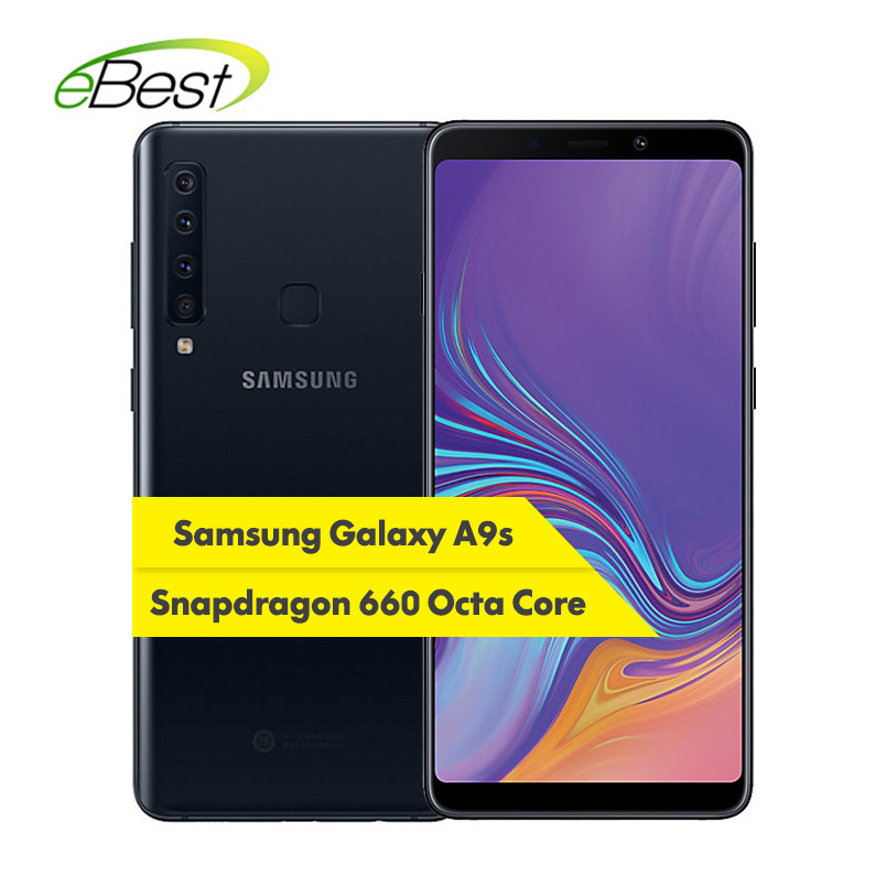 """Samsung Galaxy A9s A9200 4G LTE Mobile Phone 6.3"""" FHD 6GB RAM 128GB ROM OctaCore Four Rear Camera Android Fingerprint SmartPhone-in Cellphones from Cellphones & Telecommunications    1"""