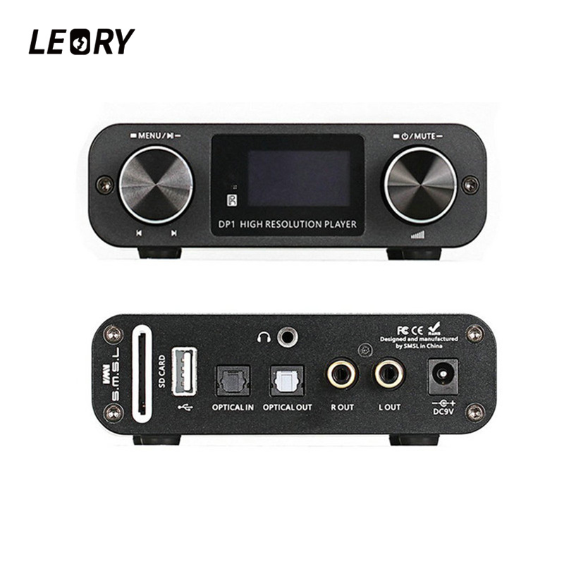 LEORY Optical Hifi Audio Amplifier Digital Dial Decoder USB DAC 32BIT/192Khz Lossless Player Amplifiers With Remote Control amplifier class d alientek d8 full pure digital hifi stereo amplifiers usb coaxial optical audio power amplificador amp pcm2704