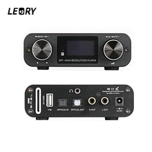 Buy online LEORY Optical Hifi Audio Amplifier Digital Dial Decoder USB DAC 32BIT/192Khz Lossless Player Amplifiers With Remote Control