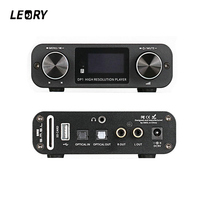 LEORY Optical Hifi Audio Amplifier Digital Dial Decoder USB DAC 32BIT 192Khz Lossless Player Amplifiers With