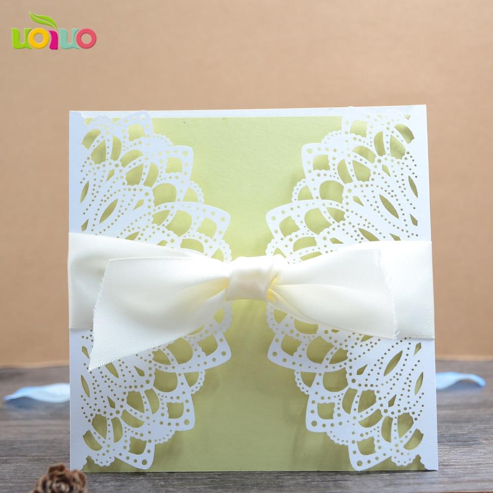 Light pink artificial crafts beautiful personal wedding invitation ...