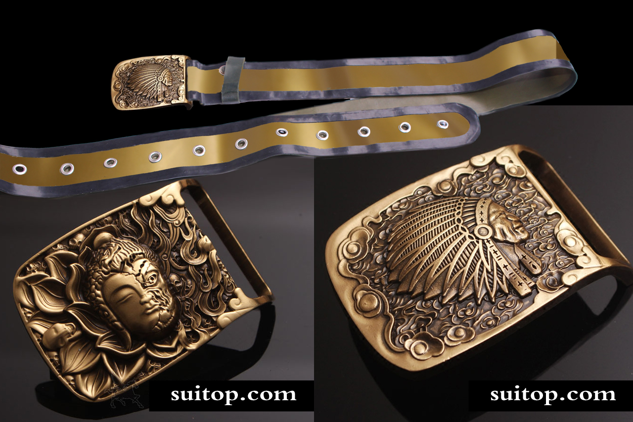 latex belt for men adult hand made Gold rubber - Apparel Accessories